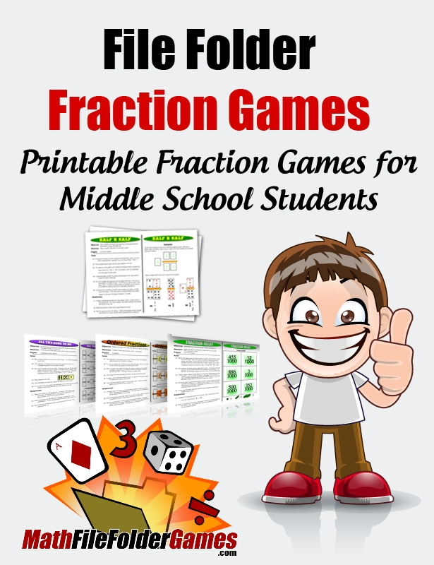 graphic regarding Printable Fraction Games referred to as Document Folder Portion Online games -