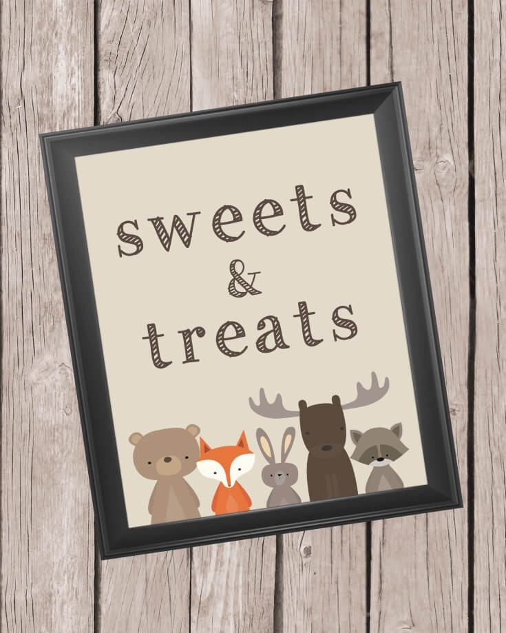 photo regarding Printable Treats named Printable Sweets And Snacks Indication - 8x10\
