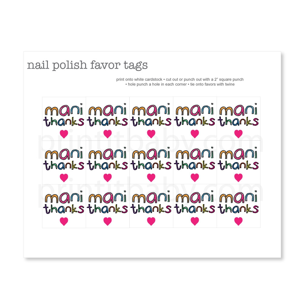 photograph relating to Printable Cardstock Tags identify Printable Vibrant Mani Owing Want Tags - Print It Kid