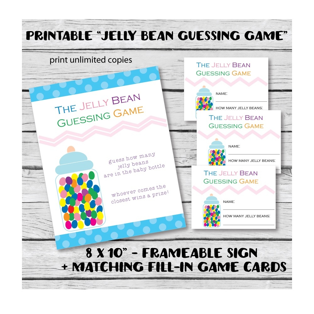 image relating to Guess Who Cards Printable named Printable Sweet Jelly Bean Boy or girl Shower Guessing Video game - Print
