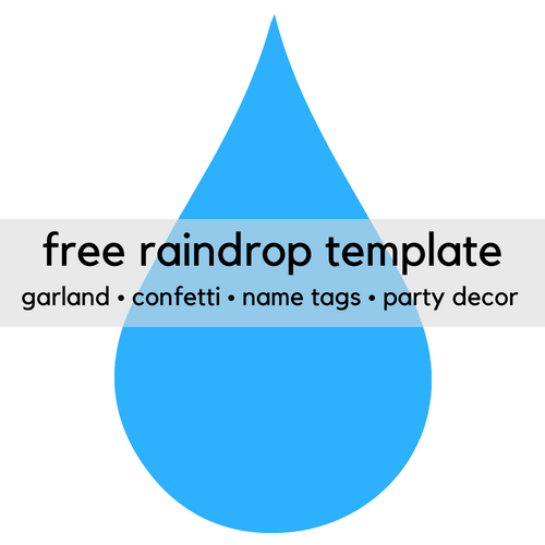 image about Raindrops Template Printable titled Totally free Printable Raindrop Clip Artwork Template - Print It Little one