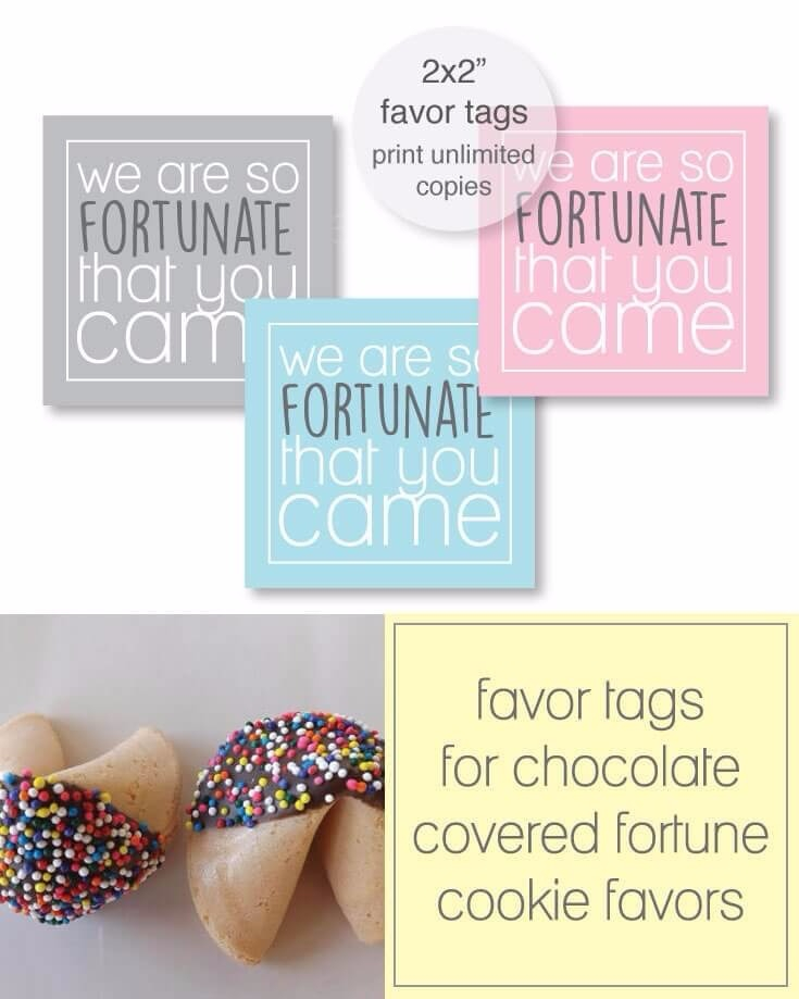 picture relating to Fortune Cookie Printable identified as Absolutely free Printable Fortune Cookie Prefer Tags -