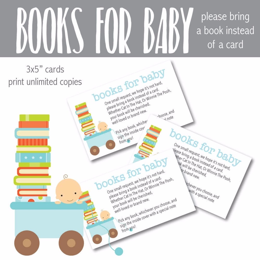 image relating to Baby Shower Cards Printable titled Printable Blue Boy or girl \