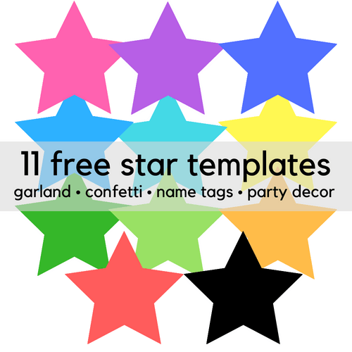 image relating to Free Printable Star named 11 Cost-free Printable Star Clip Artwork Templates - Print It Child