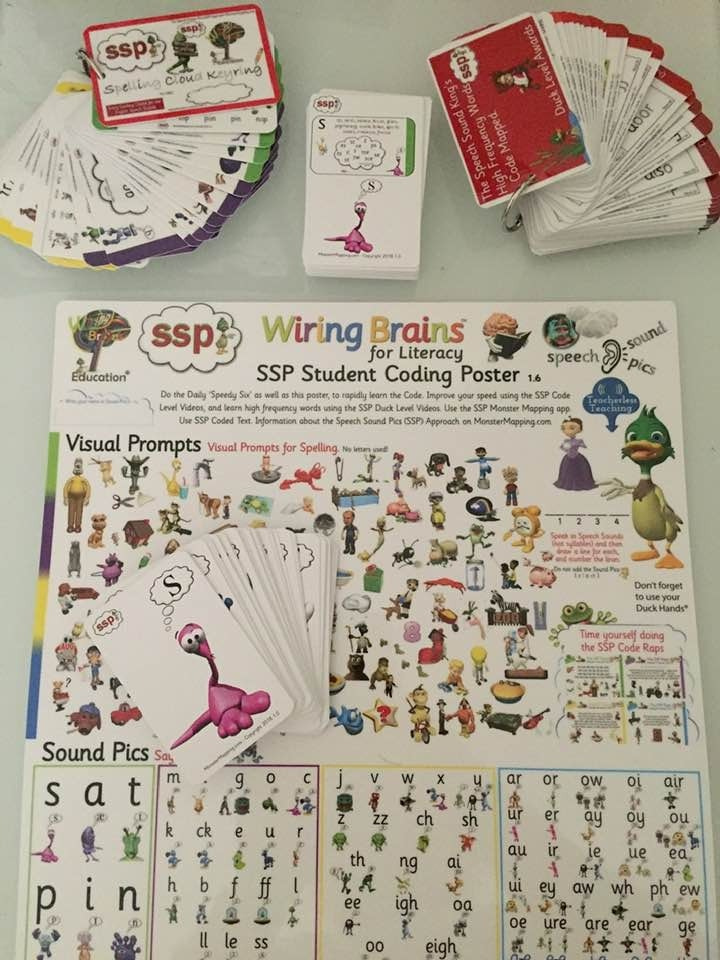 Special Offer ! Phonics Coding Poster, Spelling Keyring, Phoneme Monster  Cards    - SSP Monster Mapping Store