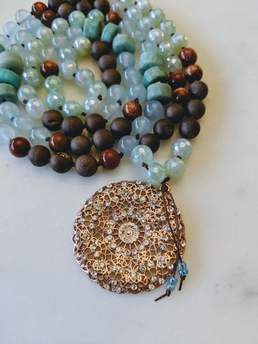 Dance of Venus | 108 bead gemstone mala