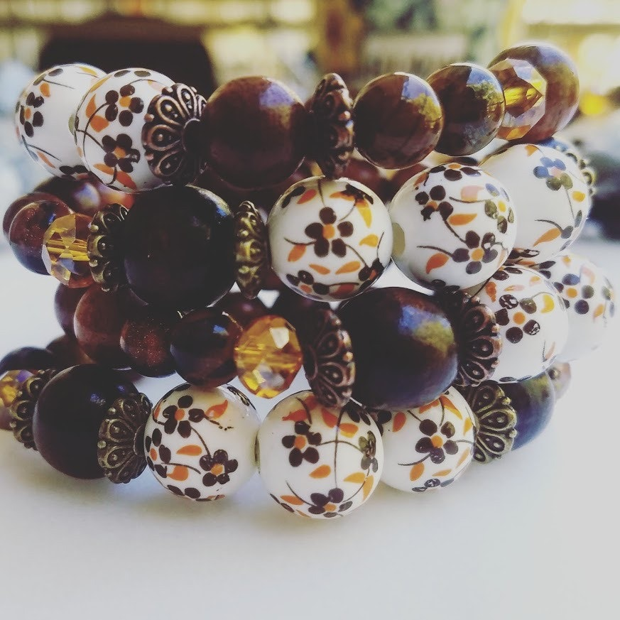Flowers in Your Hair | 1 - Piece vintage inspired bracelet