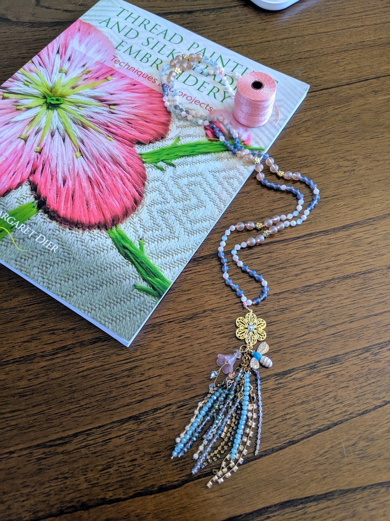 Fairy Floral | embroidery inspired necklace