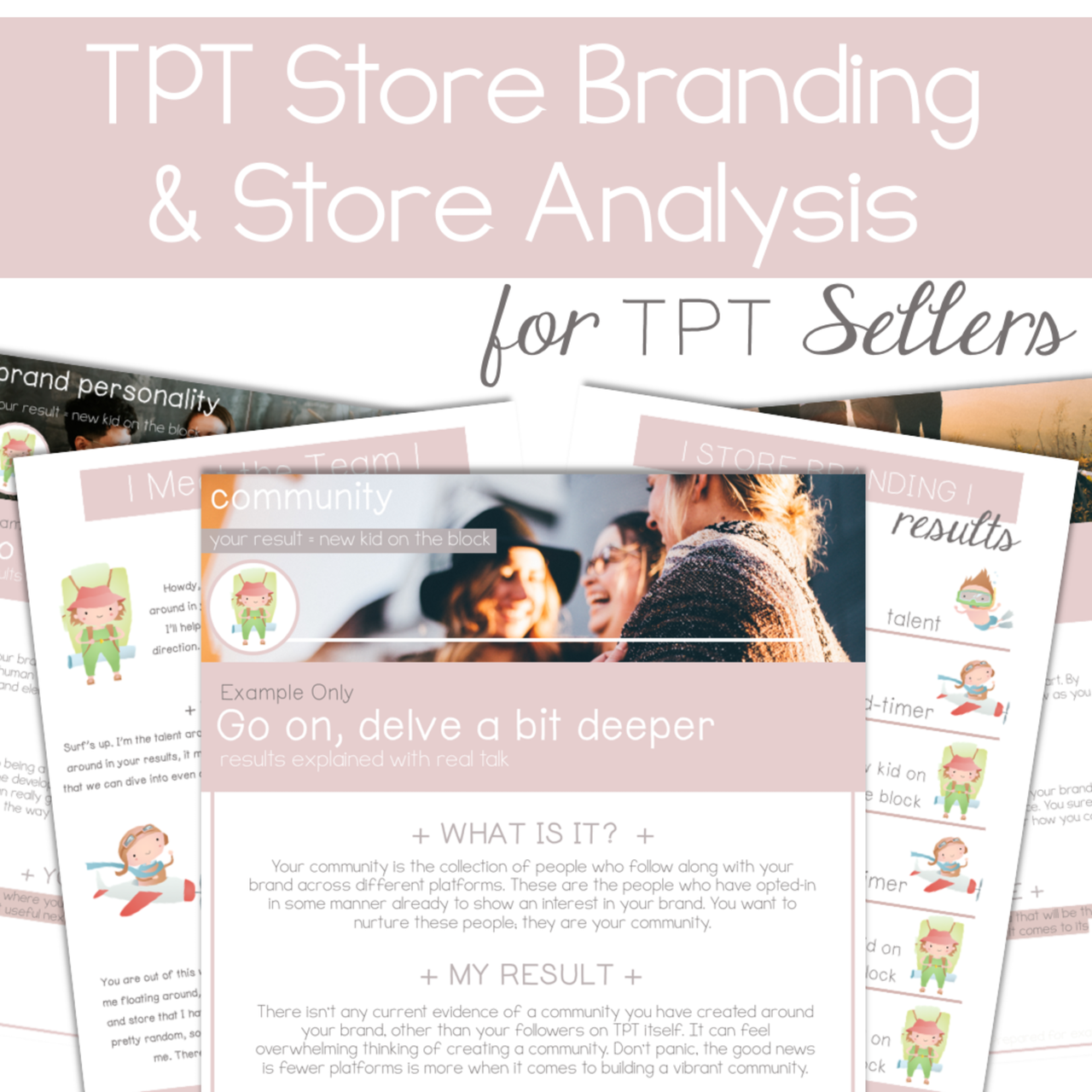 TPT Store Branding and Store Analysis for TPT Sellers