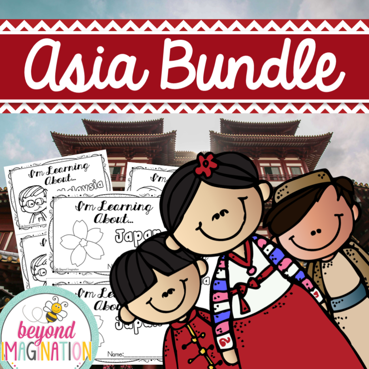 Asia Country Study Bundle