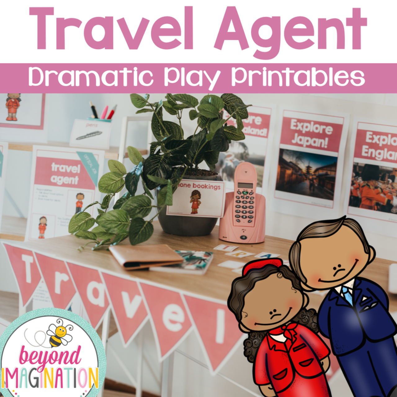 Travel Agent Dramatic Play