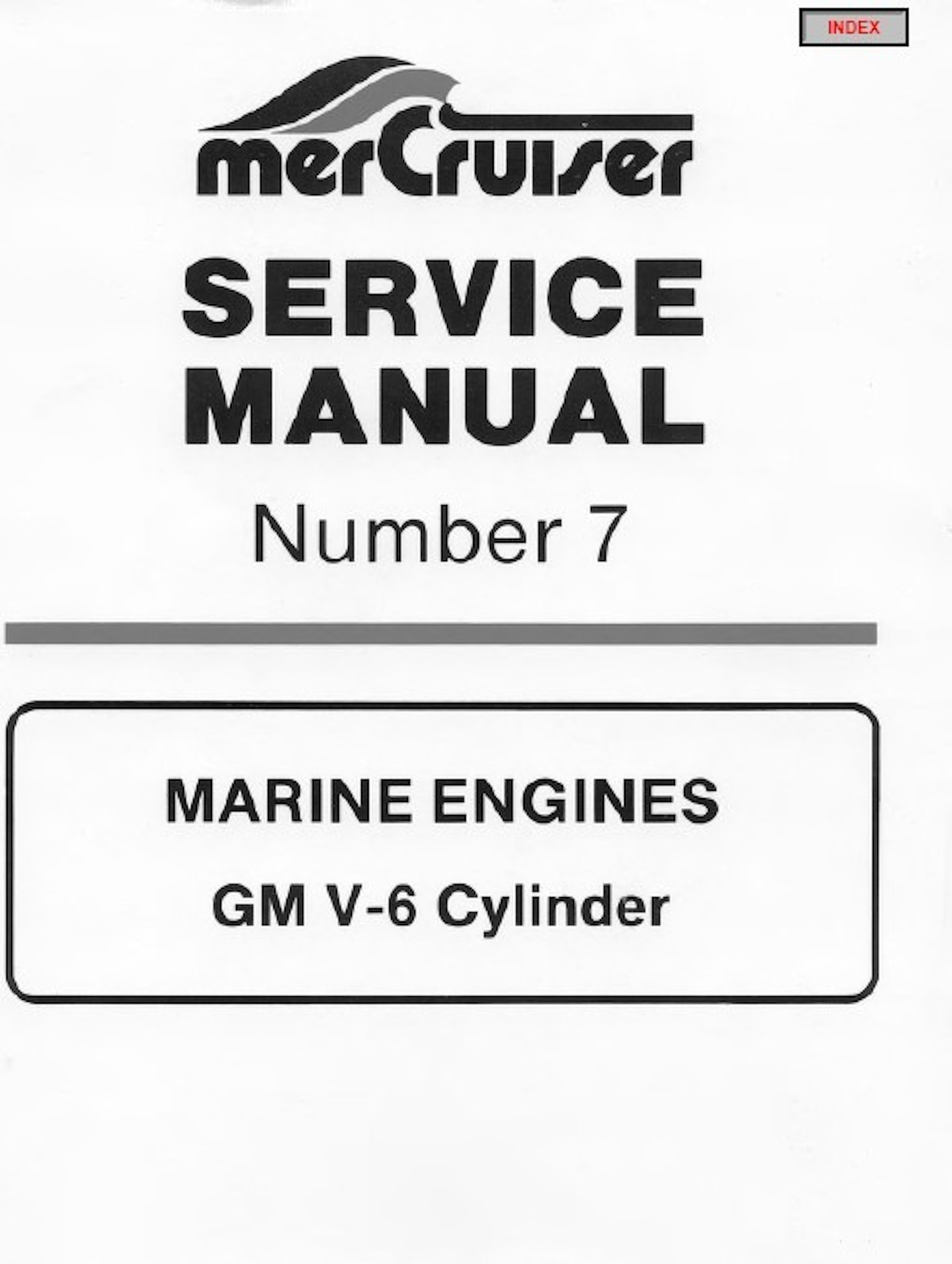 FREE DOWNLOAD! Mercruiser Service Manual #7 Marine Engines 6 ... on