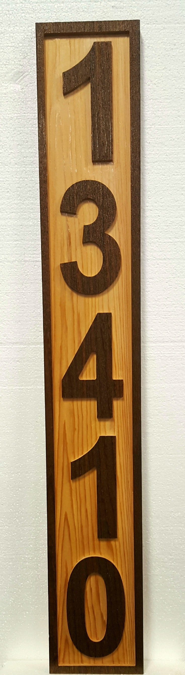 Custom House Number Sign - Three Numbers