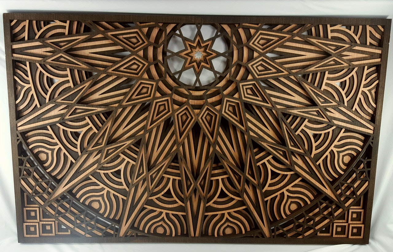 Sunburst Wood Mandala