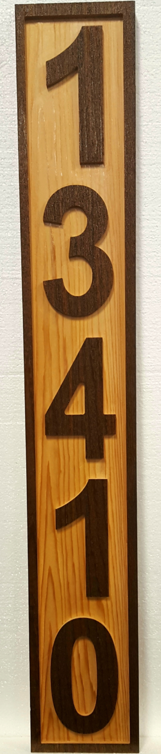 Custom House Number Sign - Five Numbers