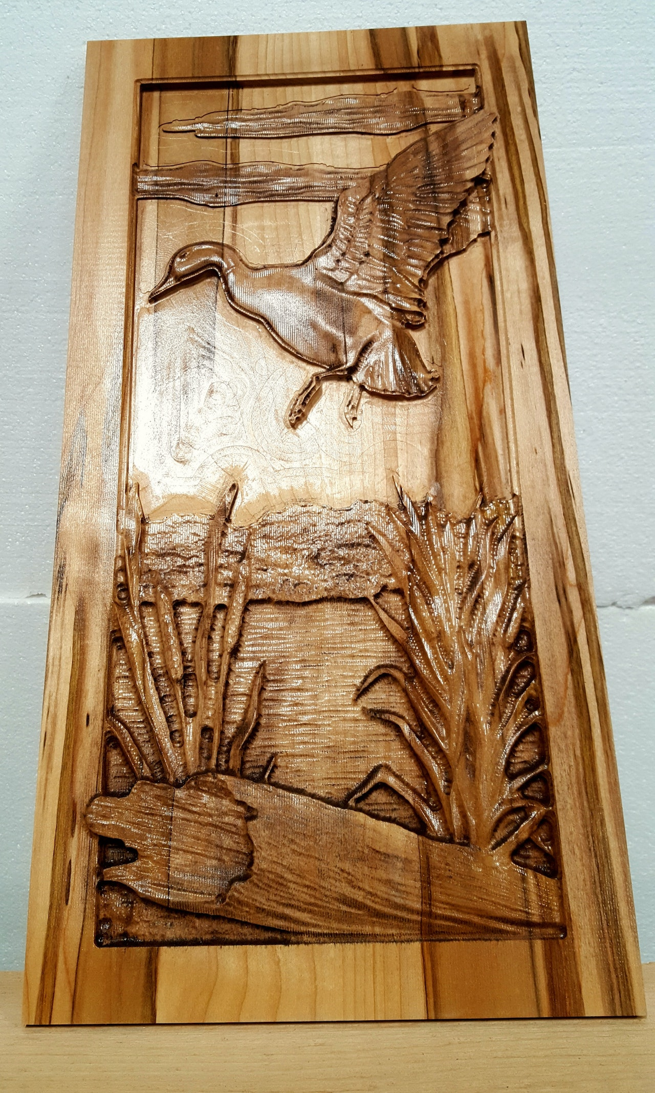 Carved Wildlife Duck Wall Hanging