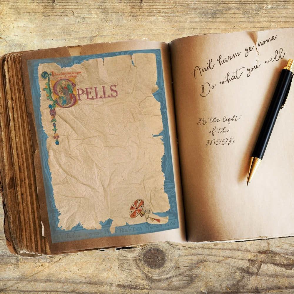 Blank Book of Shadows Pages - Morgana Magick Spell