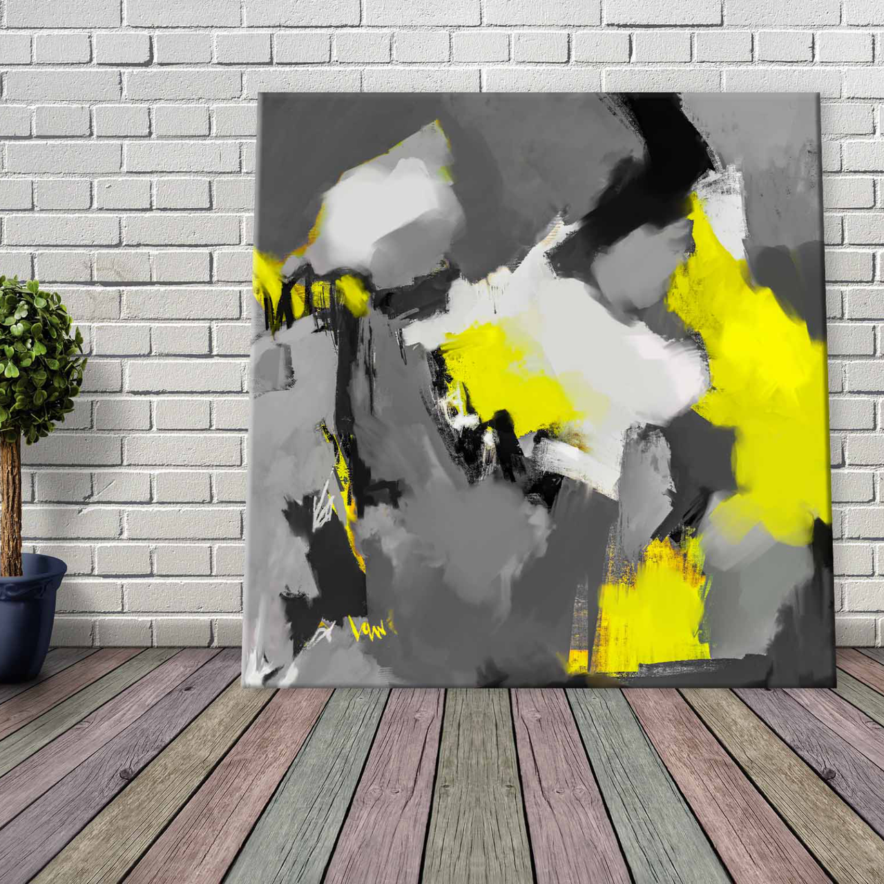 Yellow Jacket is an Instant Artwork Download for Printing Pay What You Want