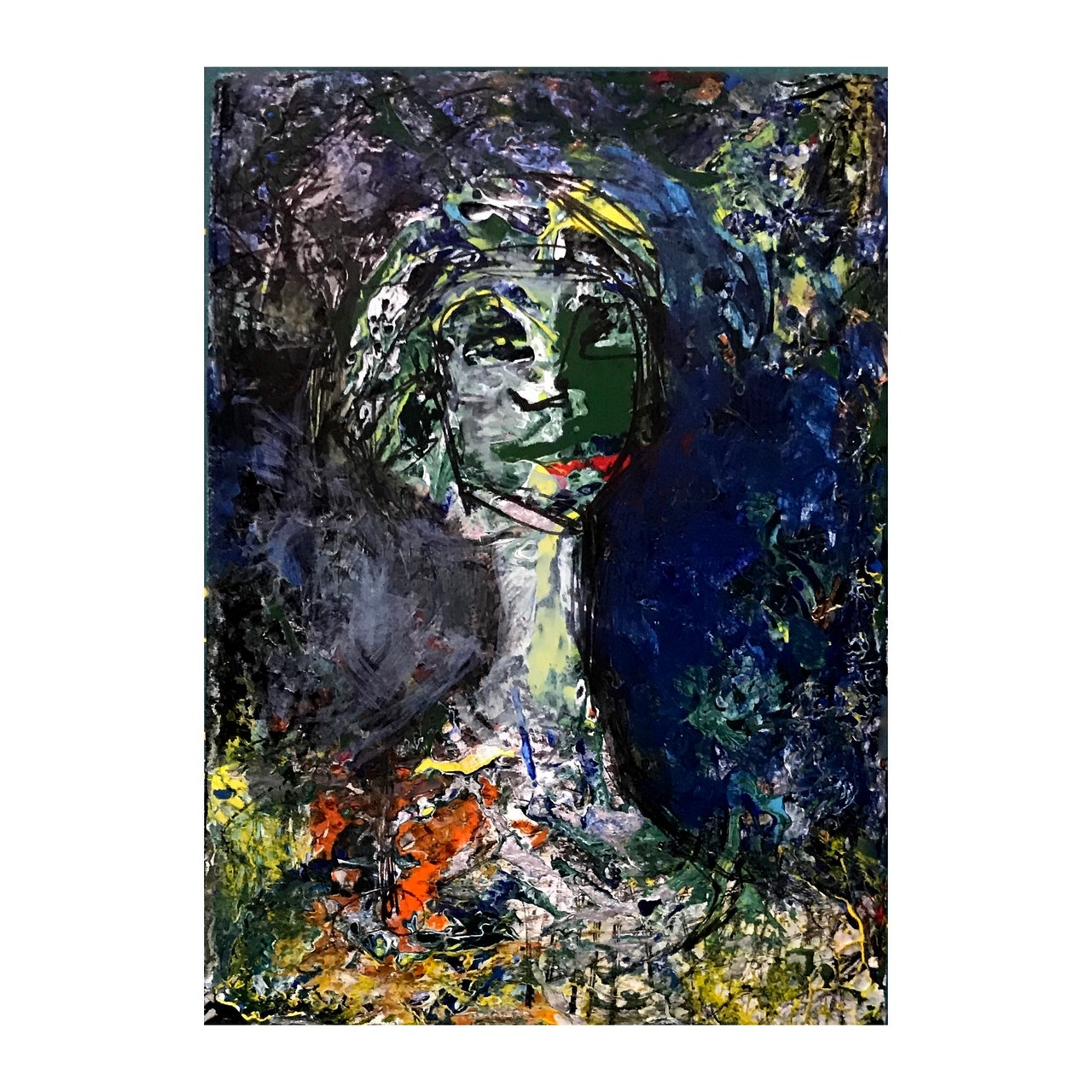 Original Small Abstract Portrait Series of People-New ACEO
