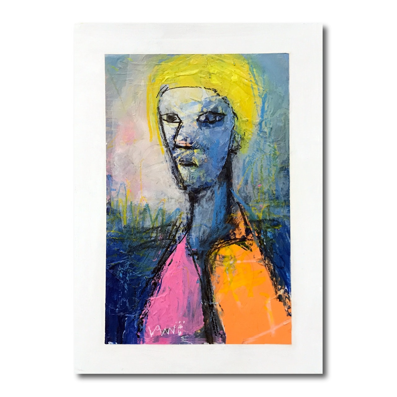 Small Abstract Portrait With Mat