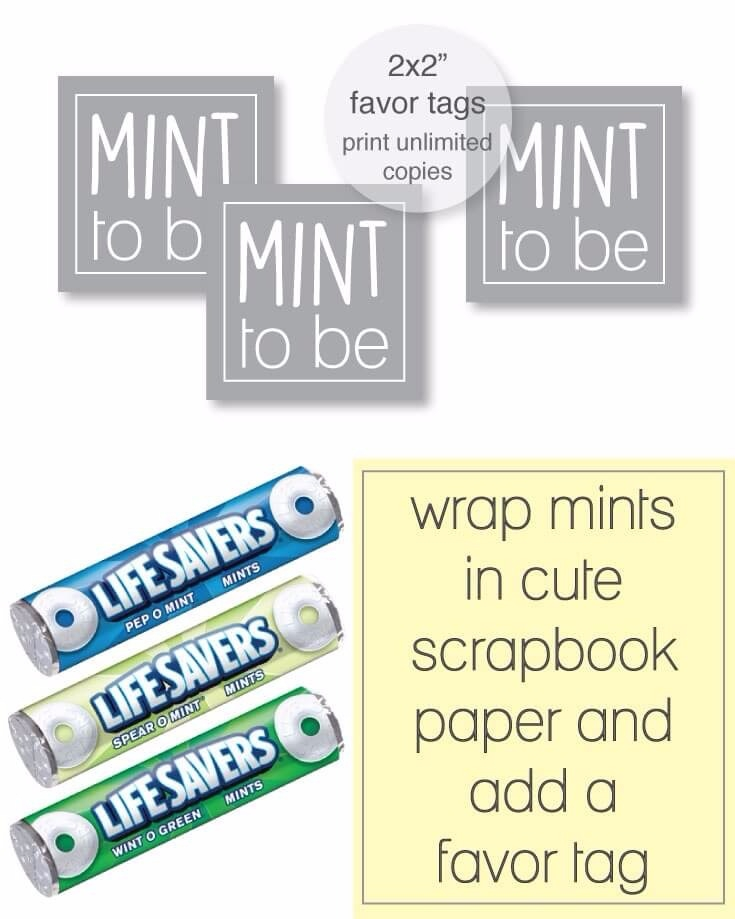 graphic regarding Party Favor Tags Free Printable called Free of charge Printable Grey Mint In the direction of Be Like Tags -