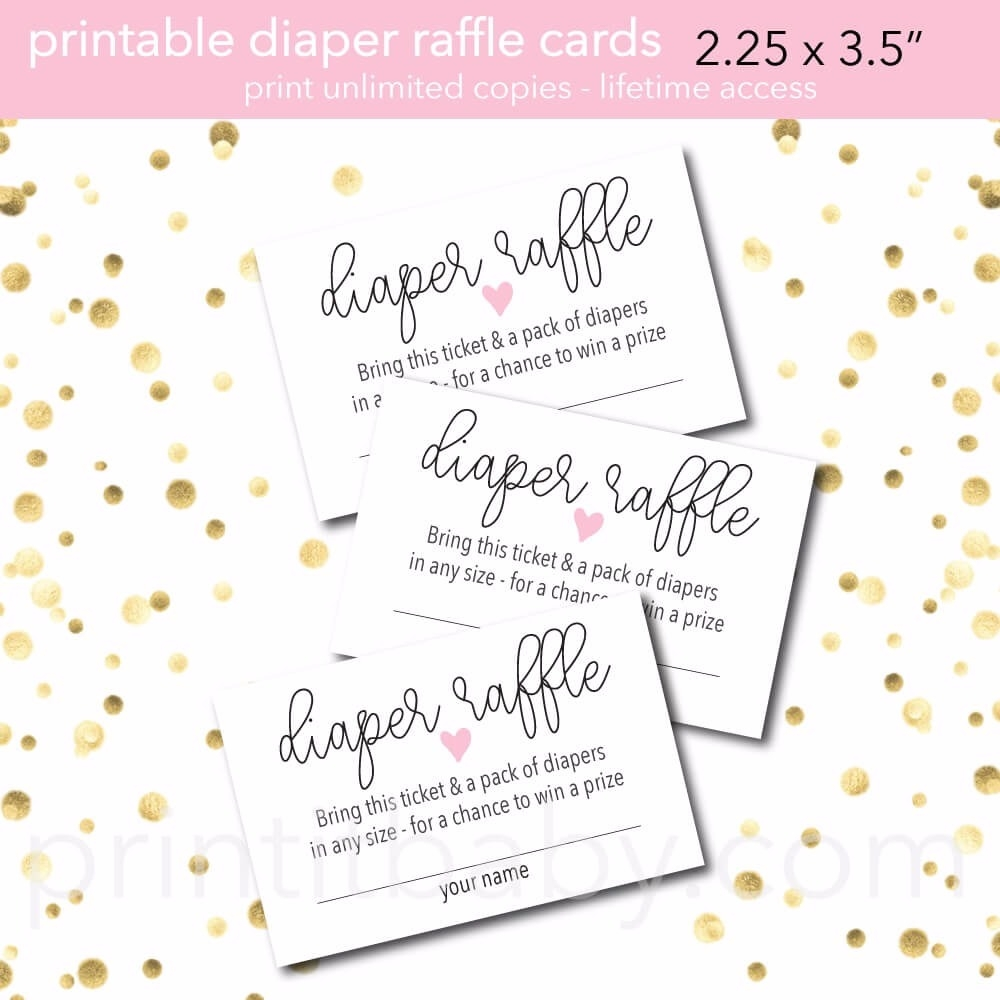 picture relating to Printable Diaper identified as Printable Crimson Centre Diaper Raffle Tickets - Print It Child