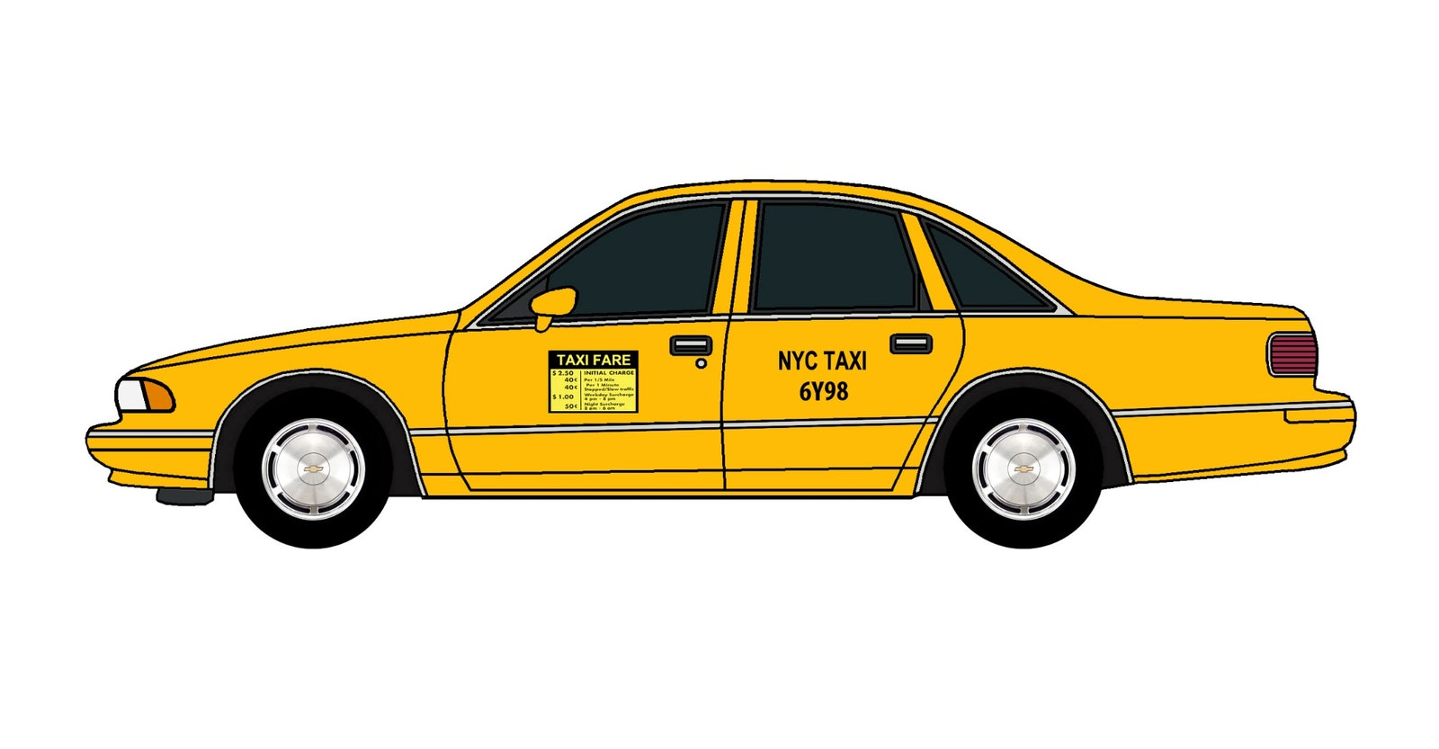 1994 Chevy Caprice Nyc Taxi Jcarwil Papercraft